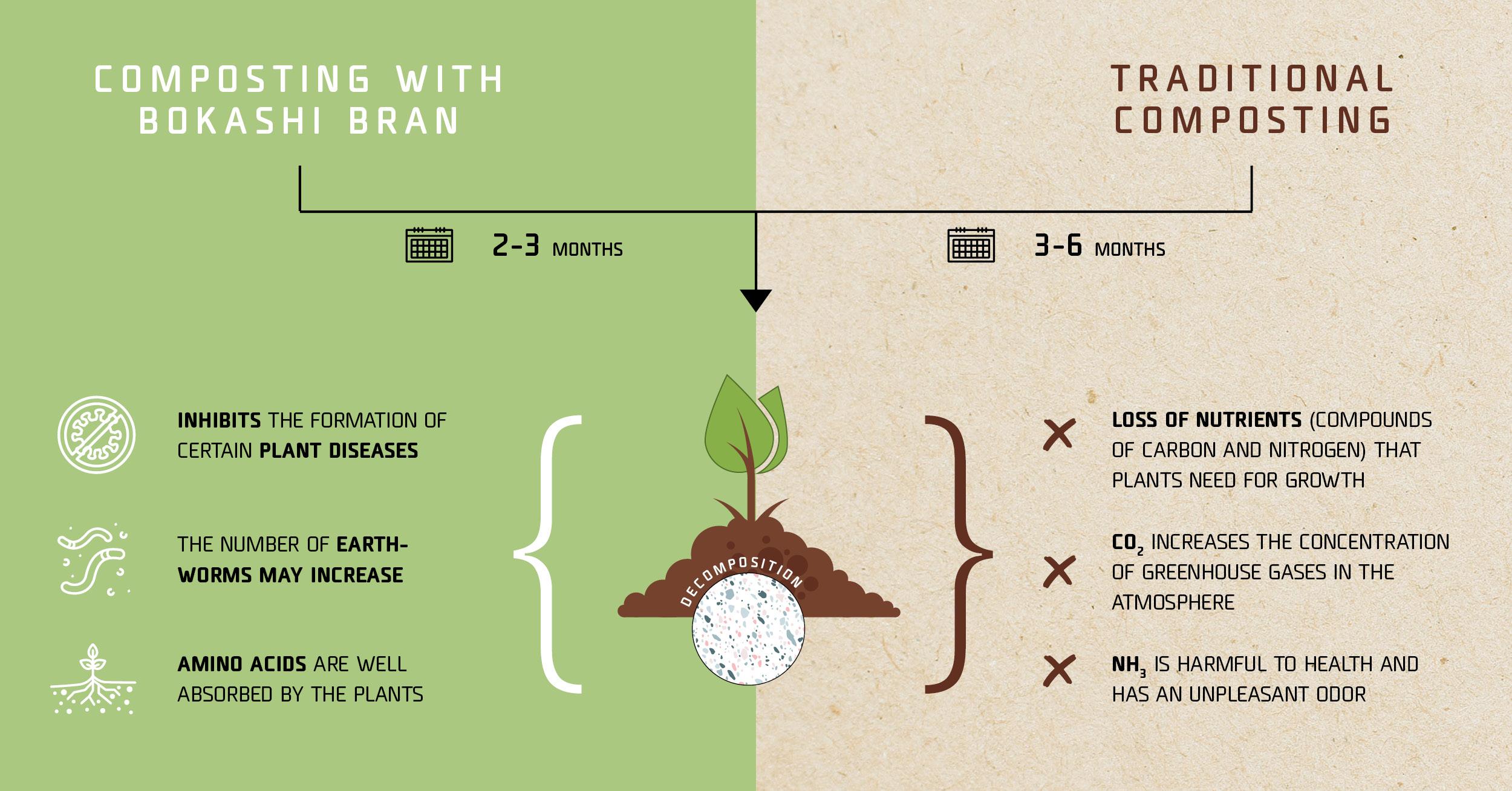 Bokashi composting vs traditional composting