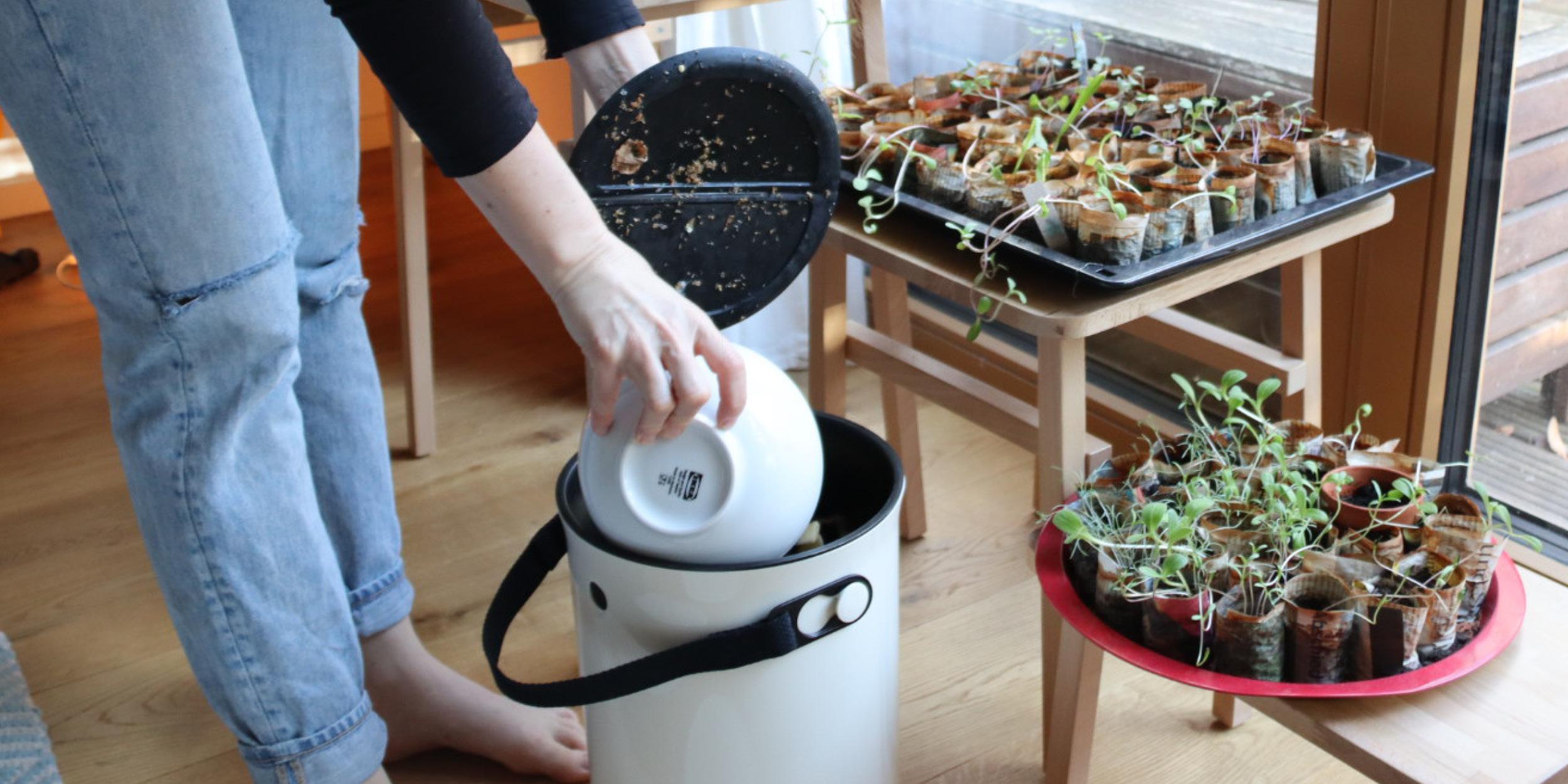 Composting with a bokashi starter set