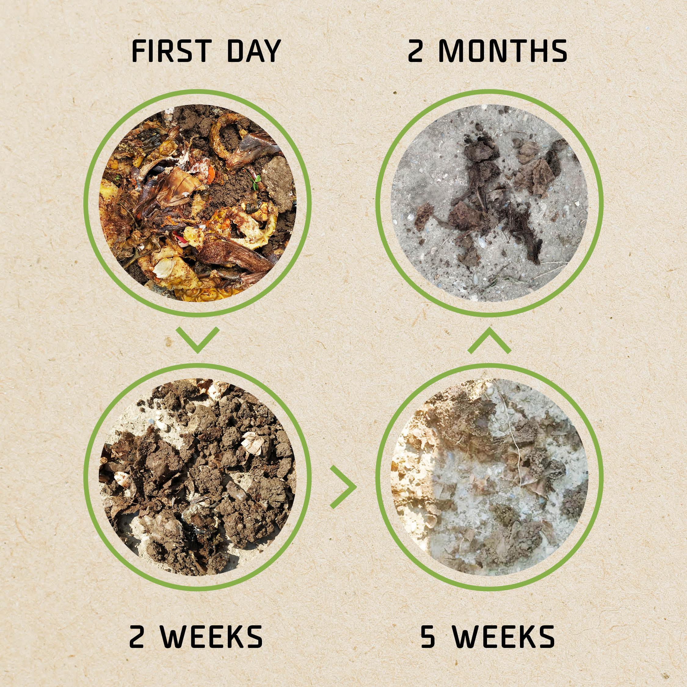 Desomposition of fermented waste