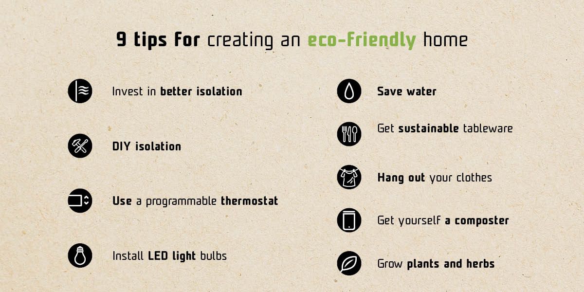 Infographics - Tips for creating an eco-friendly home