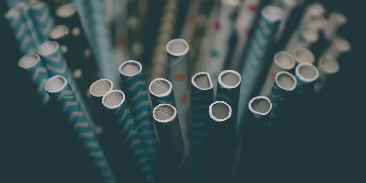 Limit the use of disposable plastic and use paper straws