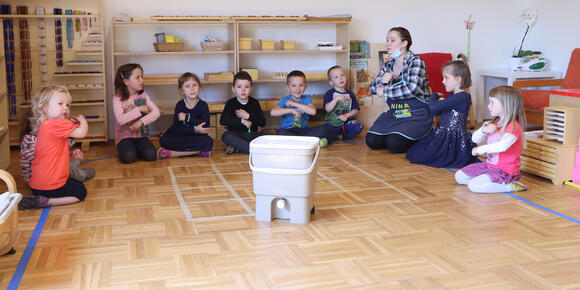 Our Organko has become a vital member of a kindergarten classroom