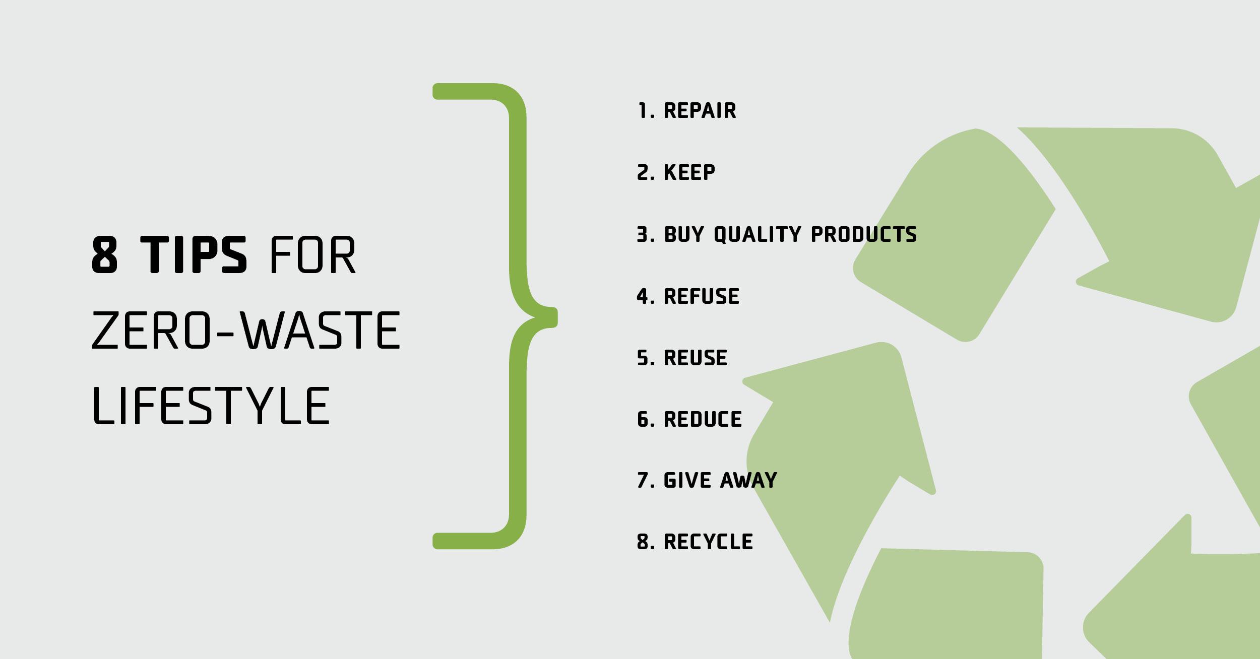 Tips for zero-waste lifestyle