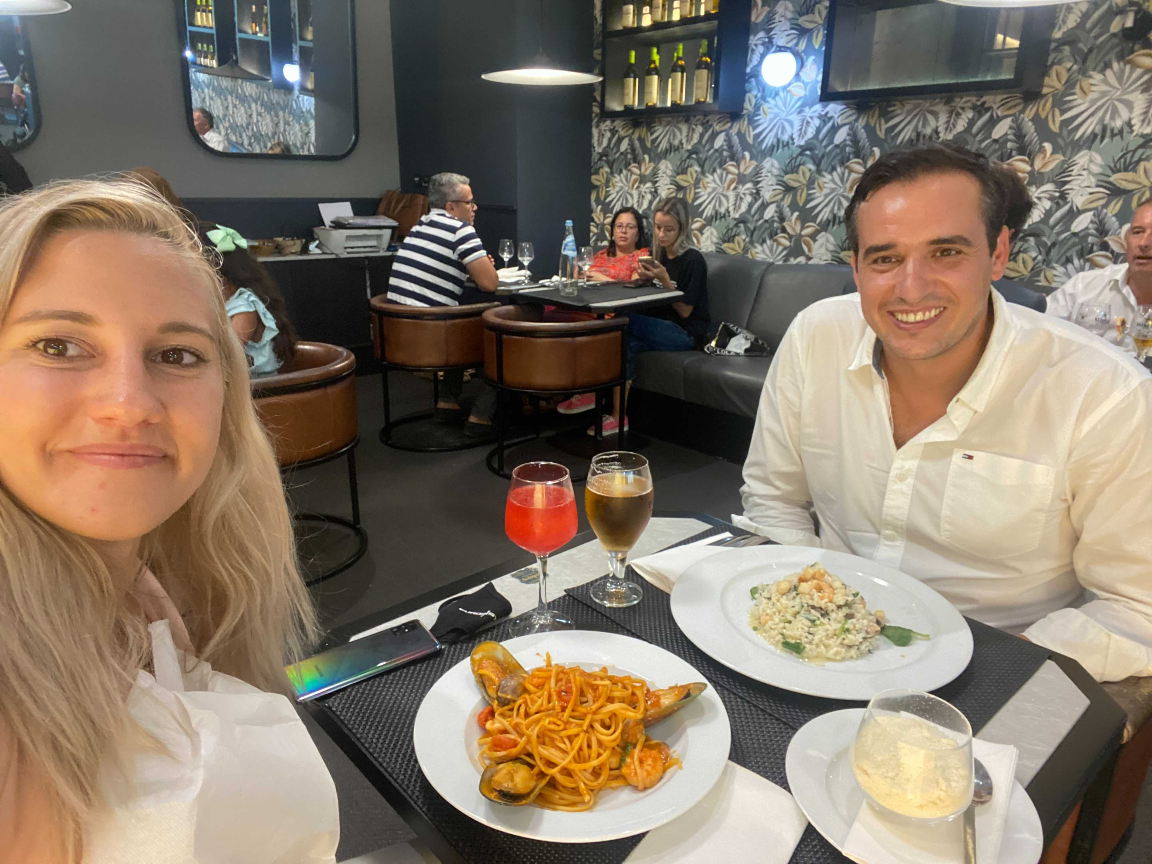 Tjasa met up with Pedro Silvestre