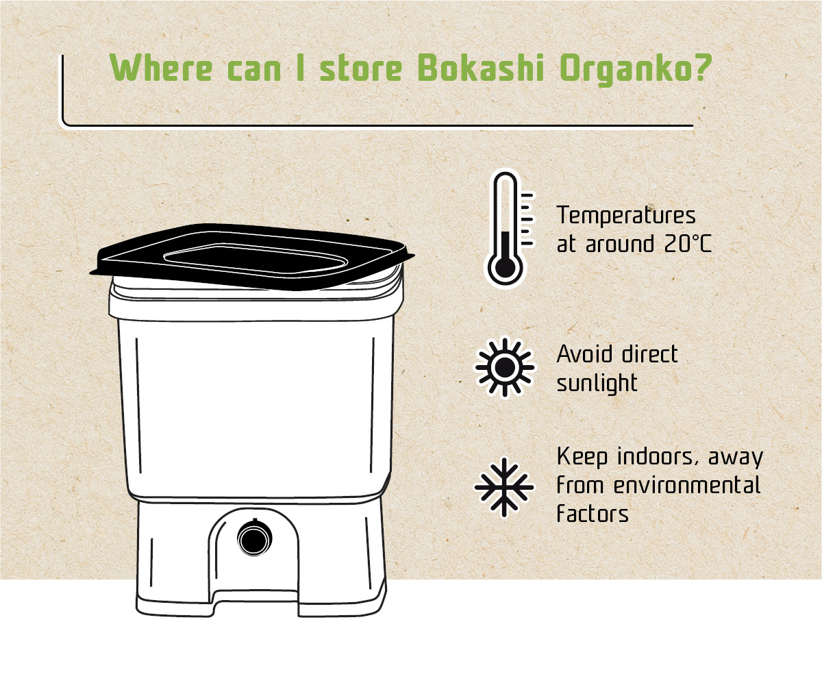 Where can I store my Bokashi Organko Infografic