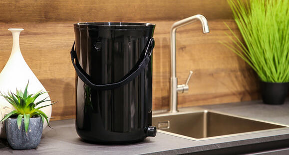 Presenting our new kitchen composter, made from recycled fishing nets