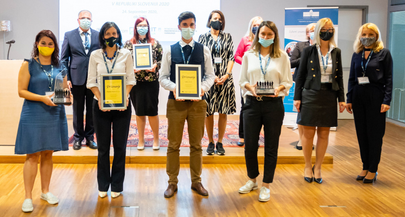 Skaza received the 2020 Best HR Practice Award
